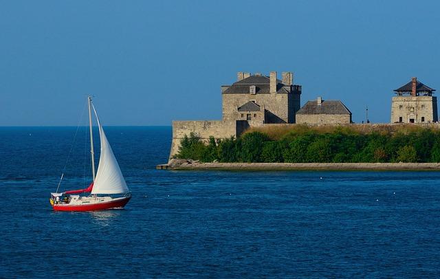 Sailboat, Fort Niagara, Niagara River, Sailing