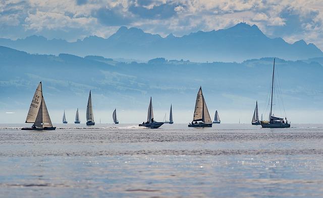 Sailboats, Regatta, Lake Constance, Sailing, Sport