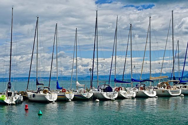 Yachts, Sailboats, Sea, Water, Harbor, Watercraft