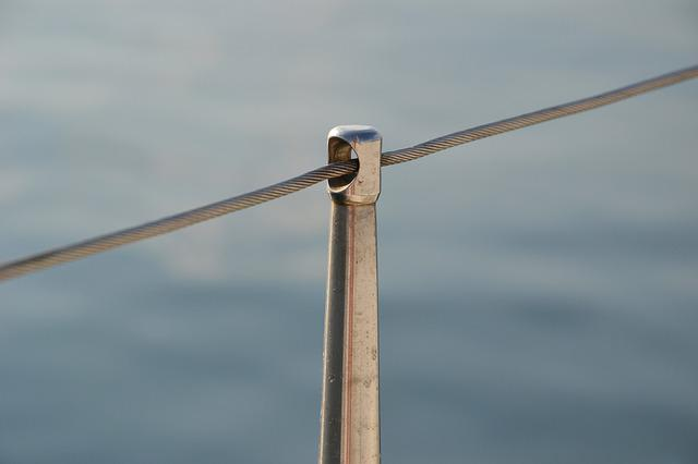 Railing, Sailing Boat, Sea, Close Up, Macro