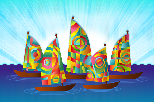 Ships, Sailing Boat, Boat, Sailing, Colorful, Sails