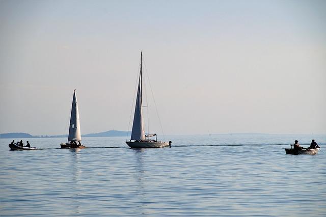 Lake, Balaton, Ship, Sailing Boat, Water Sports