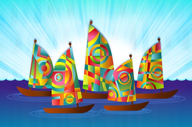Ships, Sailing Boat, Boat, Sailing, Colorful, Sails