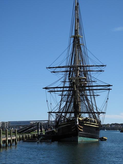 Sailing Ship, Salem, Massachusetts