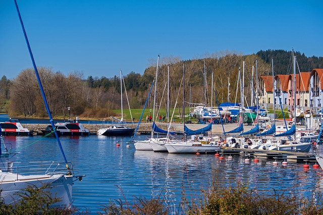 Ships, Sailing Ships, Lake, Lipno, Czech Republic, Port