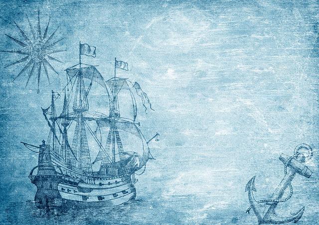 Ship, Compass, Anchor, Sailing Vessel, Historically