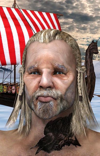 Viking, Nordmann, Tattoo, Ship, Sky, Sailing Vessel