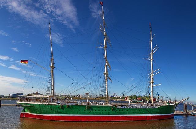 Hamburg, Port, Sailing Vessel, Rickmer Rickmers