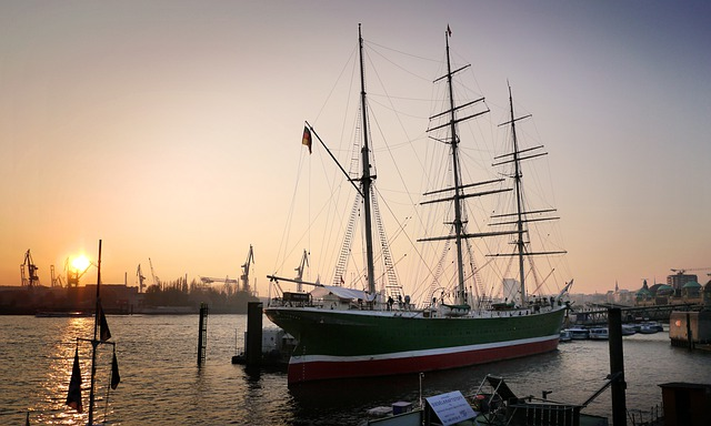 Boot, Waters, Ship, Sunset, Sailing Vessel, Frigate