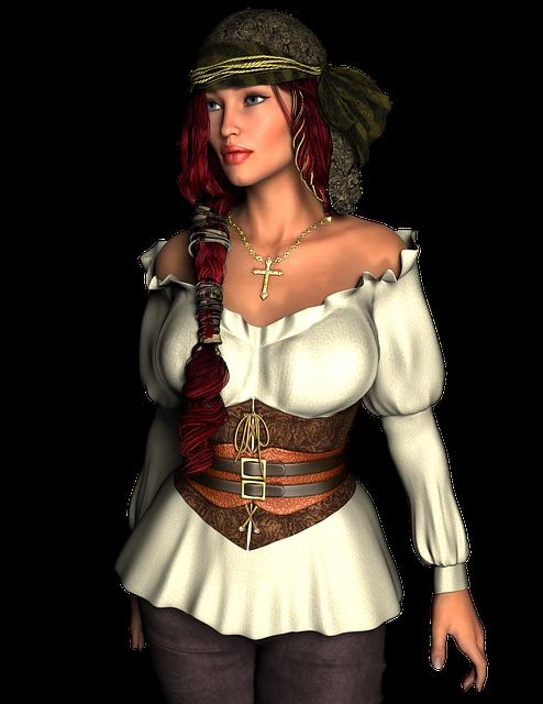 Pirate, Woman, Female, Masquerade, Captain, Sailor