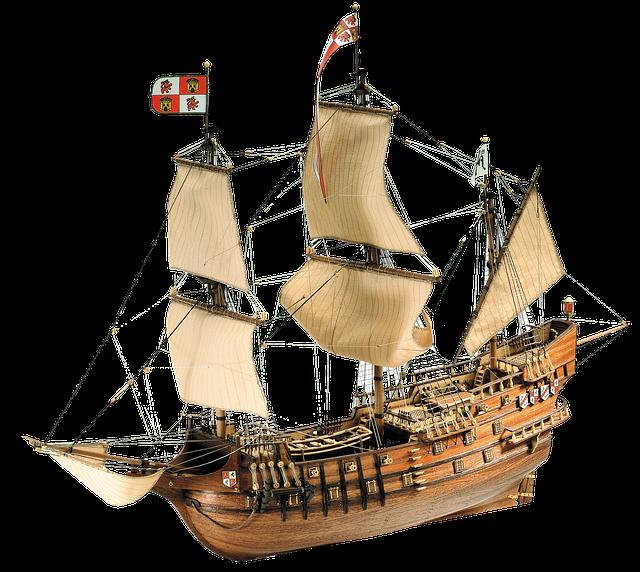 Layout, Ship, Hobby, Sails, Sea, Handmade