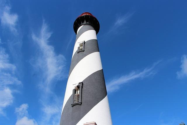 Lighthouse, Saint Augustine, Sky, Blue, Florida