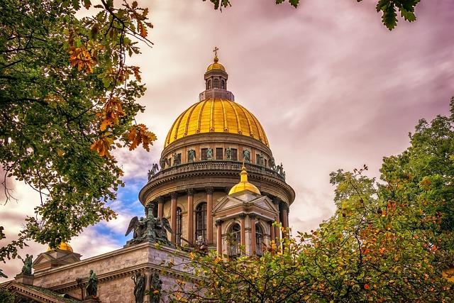Saint Isaac's Cathedral, Church, Dome, Saint Petersburg