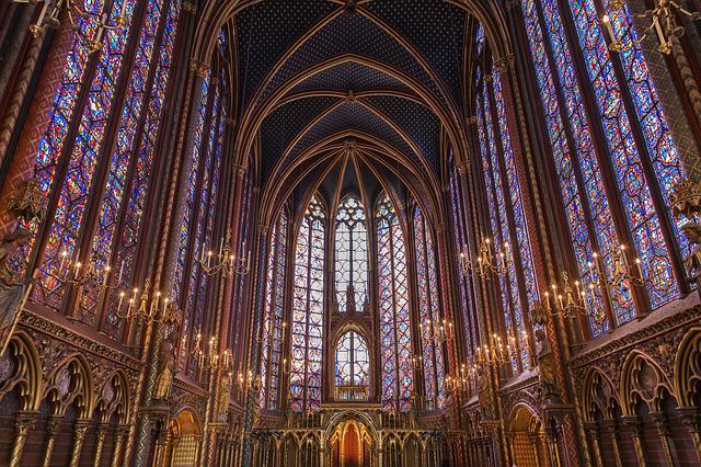 Sainte-chapelle, Stained Glass, Paris, Church