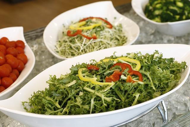 Food, Salad, Buffet