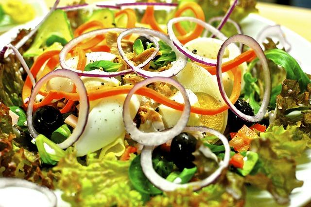 Salad Plate, Salad, Vitamins, Healthy, Mixed Salad