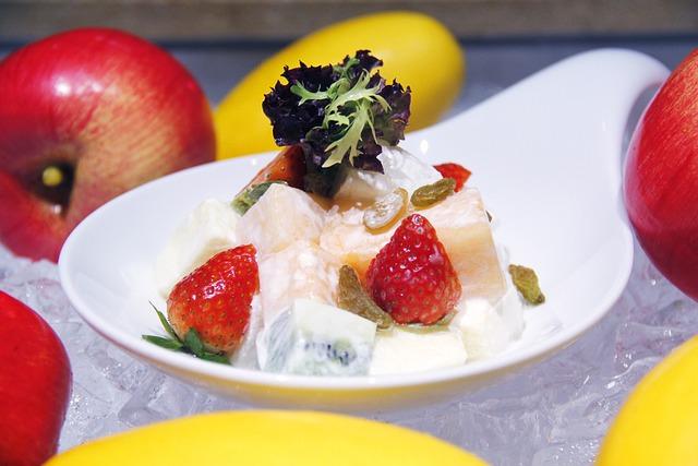 Fruit, Salad, Strawberry, Apple, Western