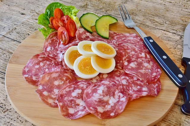 Salami, Sausage, Meat, Food, Gourmet, Meal, Dinner, Fat