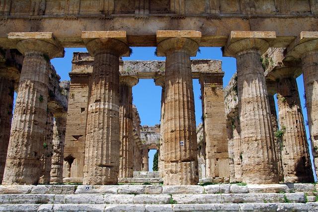 Paestum, Salerno, Italy, Temple Of Neptune