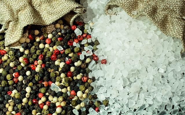 Salt, Pepper, Spices, Season, Grains, Sharp
