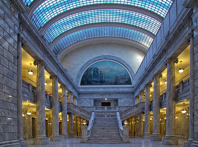 Salt Lake City, Capitol, Utah, Usa, Hdr