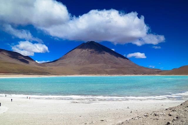 Volcano, Salt Lake, Atacama Desert, Desert, Dry, Chile