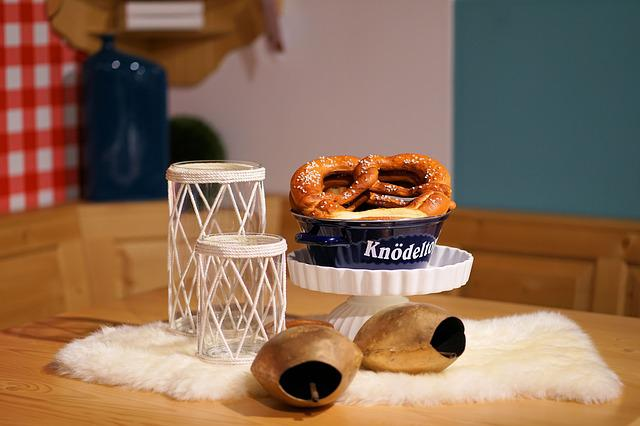 Pretzel, Salt, Table, Food, Wood, Interior Design