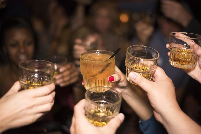 Alcohol, Whiskey, Drink, Party, People, Cheers, Salute