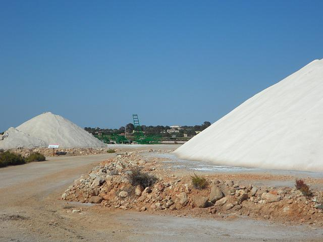 Salt, Salzberg, Salt Mountain, White, Salt Pans