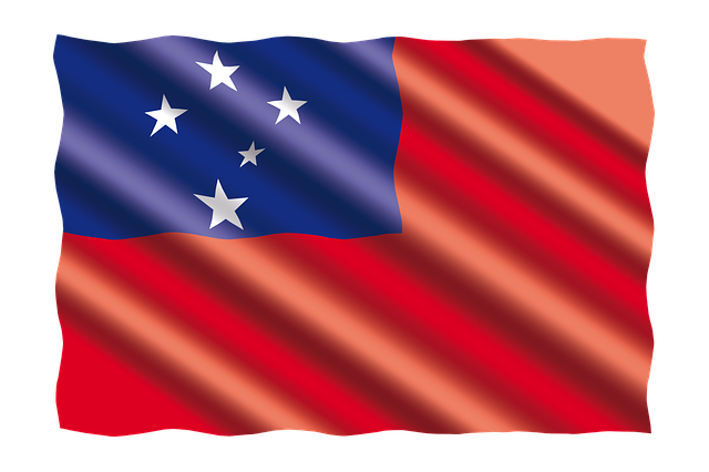 International, Flag, Samoa