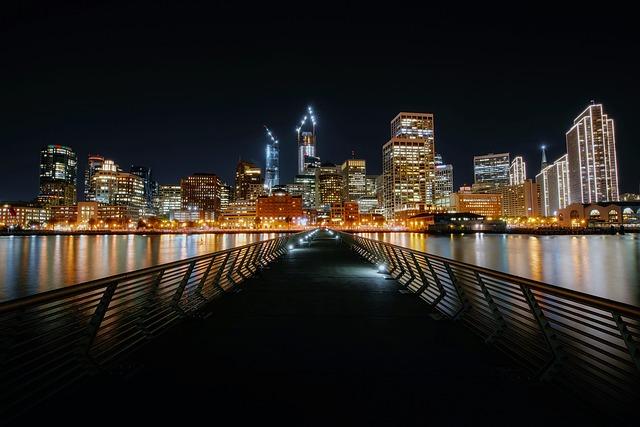 Pier 14, San Francisco, California, Night, Evening