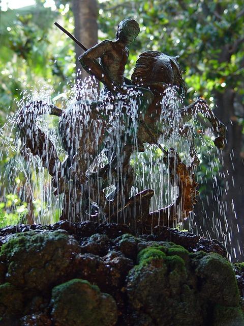 Water, San Jorge, Sculptures, Monuments, Barcelona