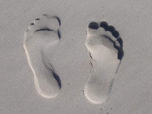 Sand, Reprint, Feet, Sole, Ten, Impression, Beach