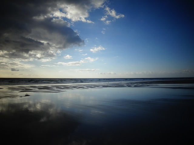 Brittany, Beach, Sand, Clouds, Sea, Horizon, Weather