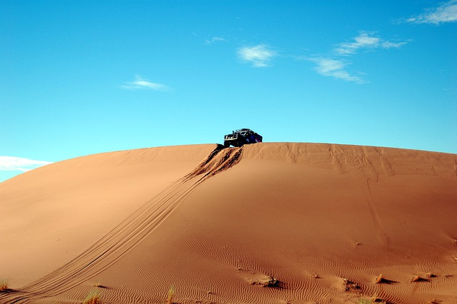 Desert, Sand, Rally, Dunes, Landscape, Nature, Car