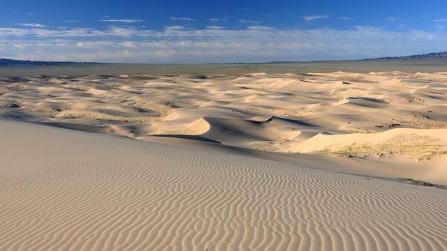 Mongolia, Desert, Sand Dune, Structure