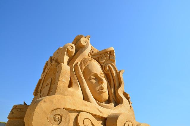 Sculpture, Sand, Bust, Statue, Design, Figure, Grain