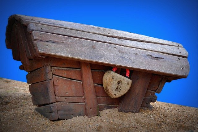 Coffin, Treasury, Lock, Sand, My Love, Wooden Box