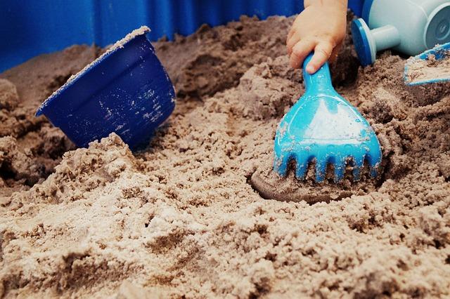 Toys, Sand Pit, Sand, Harken, Plastic, Child