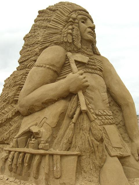 Sculpture, Sand, Indians, Sandworld, Sand Sculpture