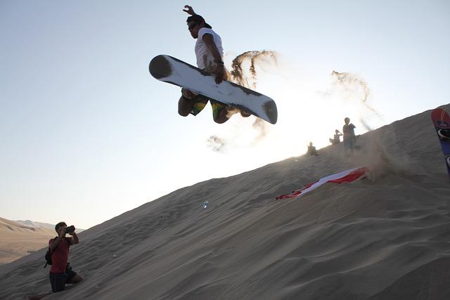Sandboarding, Sand, Dunes, Desert, Peru, Ica