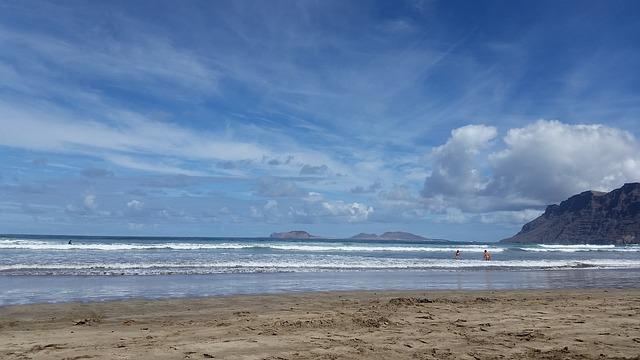 Beach, Lanzarote, Sea, Sand