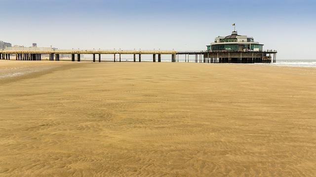 Beach, North Sea, Sea Bridge, Sand