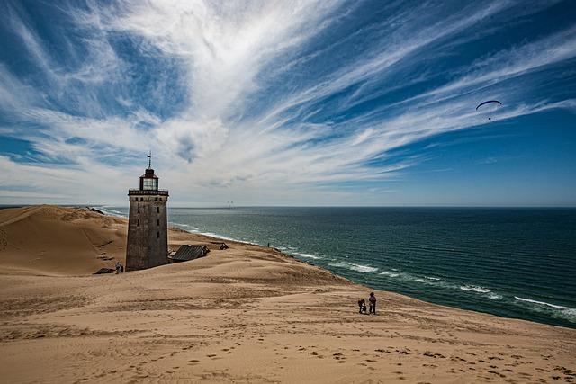 Lighthouse, Beach, Sand, Sea, Coast, Dune, Rubric, Sky