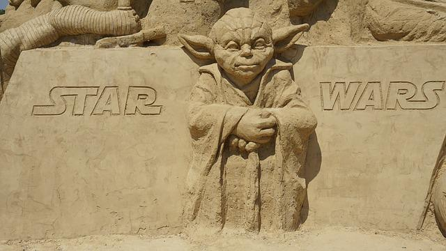 Yoda, Star Wars, Sand, Figure