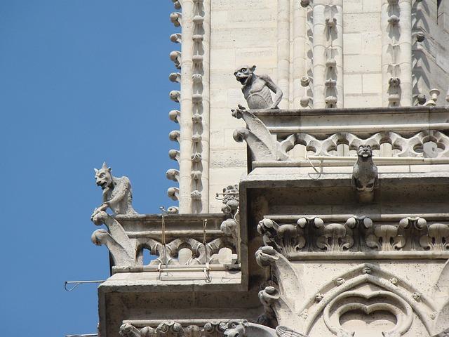 Gargoile, Speiher, Sand Stone, Figures, Sculpture, Art