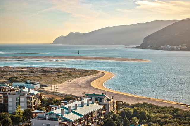 Portugal, Beach, Water, Mountains, Costa, Sand