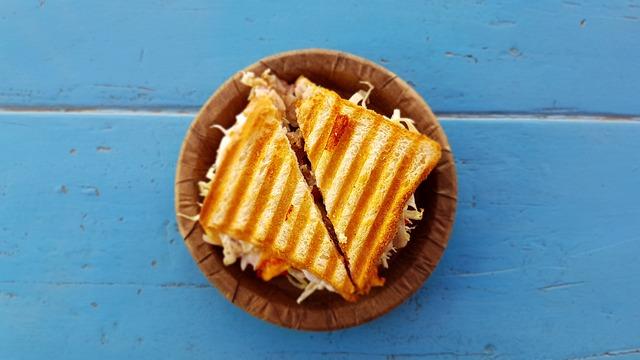 Bread, Sandwich, Food, Plate, Table, Toast