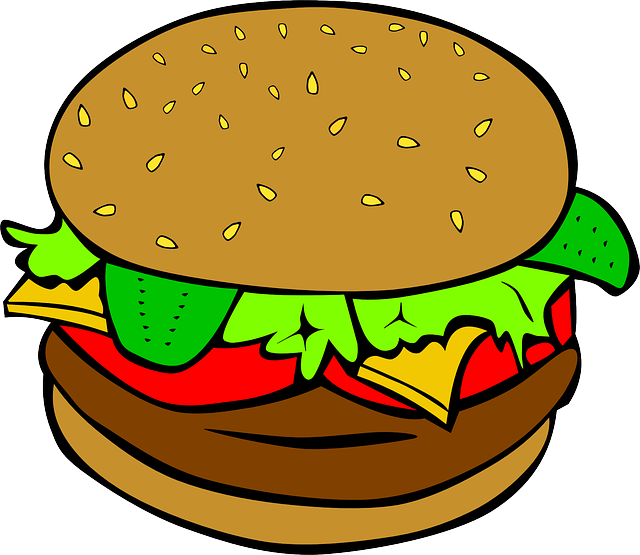 Hamburger, Cheeseburger, Lunch, Food, Sandwich, Meal