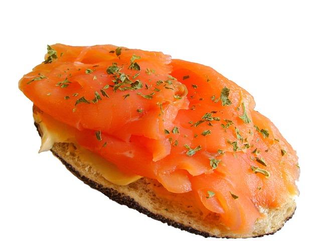 Salmon Bun, Salmon Sandwich, Salmon, Sandwich